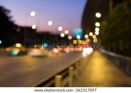 blur bokeh traffic background abstract  #362317097