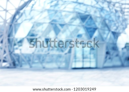 blur Building structures aluminum triangle geometry on facade of modern urban architecture. blur futuristic structures