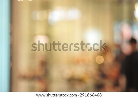 blur busy city pedestrian people crowd on shoppij mall
