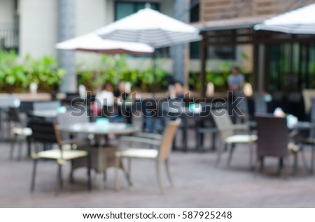 Blur cafe restaurant on outdoor,  use for background. #587925248