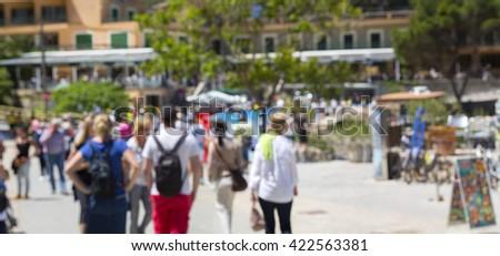 blur city lifestyle background summer #422563381