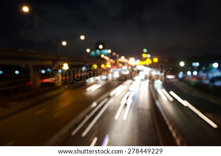 blur colorful lighhts traffic abstract background #278449229