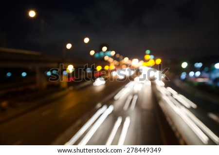blur colorful lighhts traffic abstract background #278449349