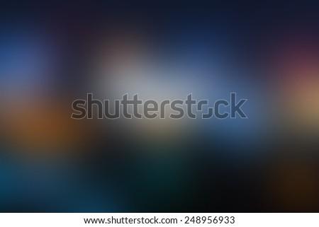 Blur dark tone multicolor light, defocused blurred background.