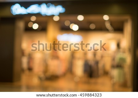 blur department store with bokeh for background #459884323