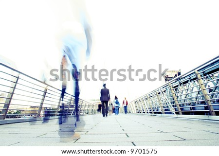 blur effect showing the stress of modern life (intentional blur and overexposure)