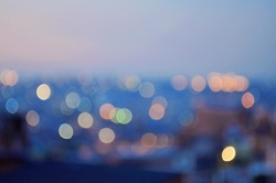 Blur effects with photo camera taken from the city at night, creating an abstract background