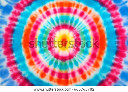 Blur fabric Tie dye bright colors texture background. #665765782