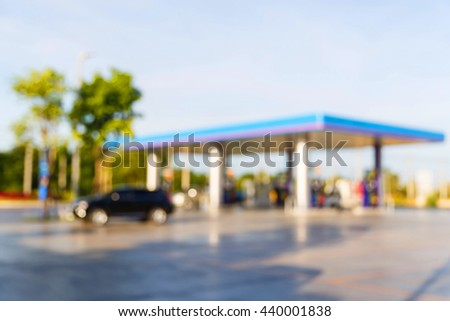 Blur gas station, gasoline, petrol, car, automotive, fuel, fossil energy, petolium product, deisel, gasohol
