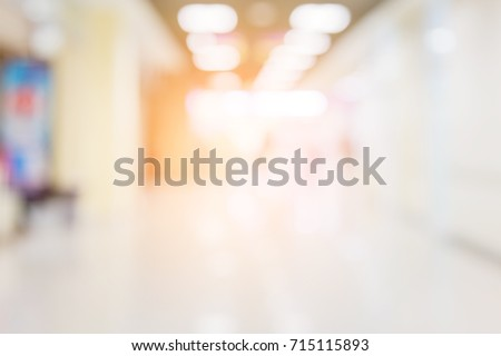 blur image background  of corridor in hospital or clinic image #715115893