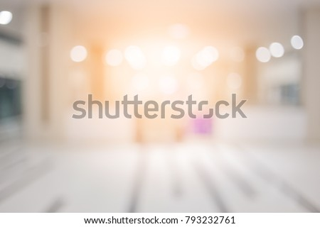 blur image background of hotel lobby or corridor