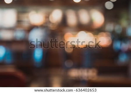 blur image of a crowd of people at coffee shop,vintage tone #636402653