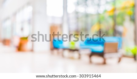 blur image of  living room  for background usage .