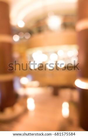 blur image of lobby #681575584