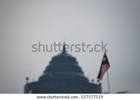 blur image of Malaysia flag