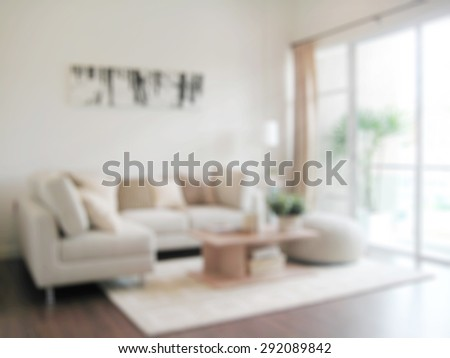 blur image of modern living room interior