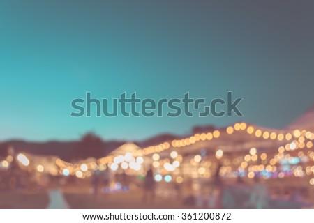 blur image of night festival on ...