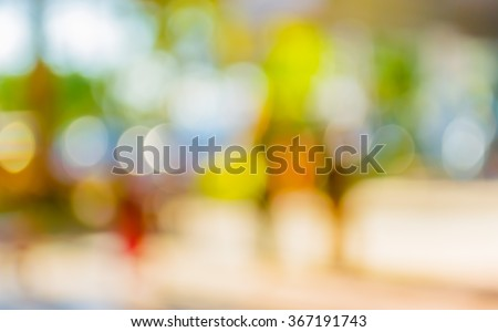 blur image of school activity with bokeh for background usage .