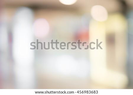 Blur image of shopping mall with shining lights #456983683
