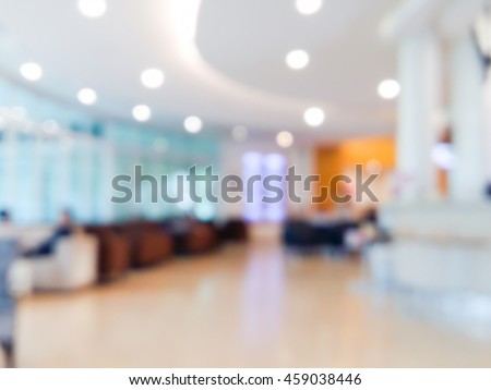 Blur image of the customer waiting room, use for background.