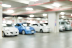 Blur image of Underground car in parking lot