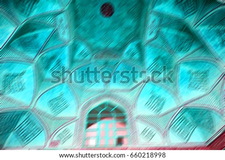 blur in iran abstract texture of the  religion  architecture mosque roof persian history - Shutterstock ID 660218998