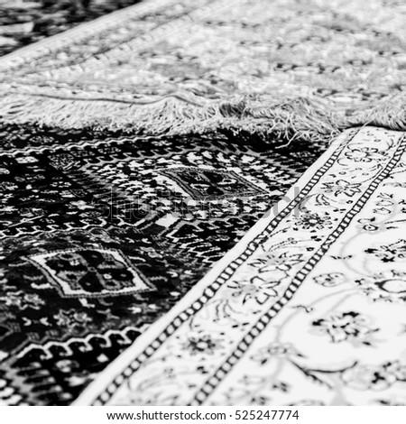 blur in iran antique carpet...