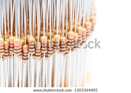 blur in the white light lots of resistor electronic componet like concept of group and resistance