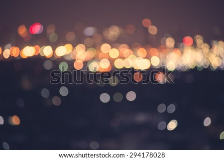 blur light bokeh abstrac background in vintage concept