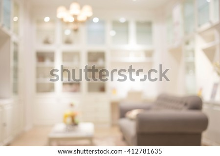 Blur Living Room of The Background #412781635