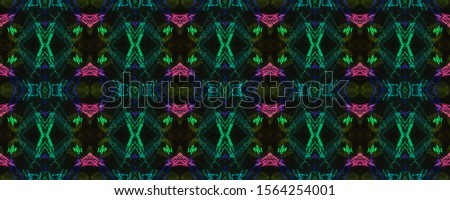 Blur Motif. Smudges Effect. Color pencil on Black Background. Shabby Grunge Pineapple Rind. Ethnic Pattern. Neon Strokes. Tribal Endless Ornament. Endless Crayon elements.