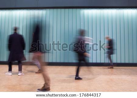 Blur Movement Business people walking in Rush Hour, London, UK