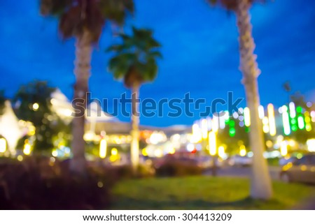 blur night garden with bokeh light Background for use as Background