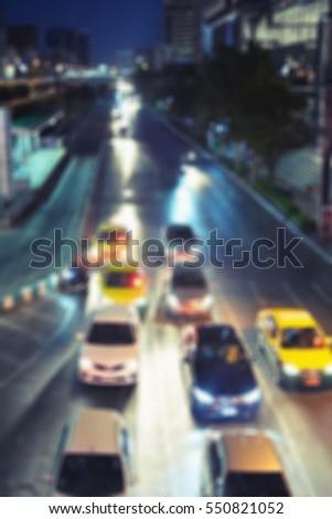 blur night road car traffic background , transport #550821052