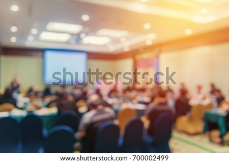 Blur of business Conference and Presentation in the conference hall. #700002499