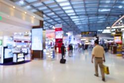 Blur of duty free shop