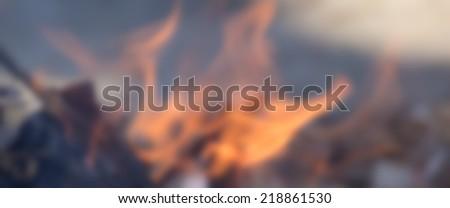 blur of fire burn wood