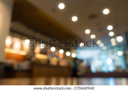 Coffeeshop background