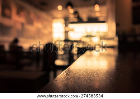 Blur or Defocus image of Coffee Shop or Cafeteria for use as Background #274583534