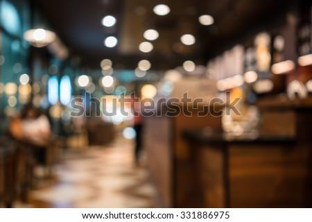 blur or defocus image of coffee ...