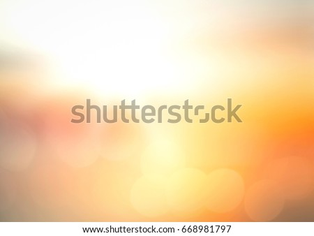 Blur orange sunset beach background #668981797