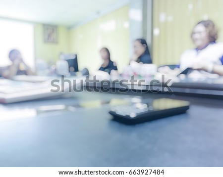 blur photo of office staffs in meeting room during the brainstorming