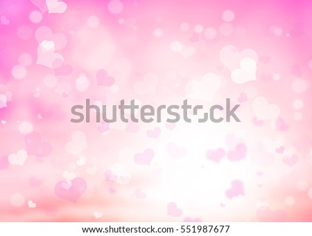 Shutterstock Blur pink white pastel hearts love bokeh wallpaper. Abstract blurred background valentine's day happy concept. Card of february. Glowing corazones red light gradient.