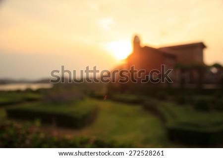 blur resort landscape abstract lighting background