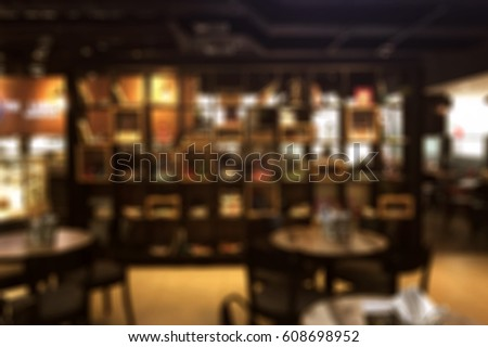 Blur restaurant backdrop, bokeh background #608698952