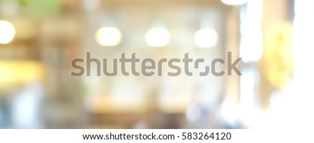 Blur restaurant interior banner background
