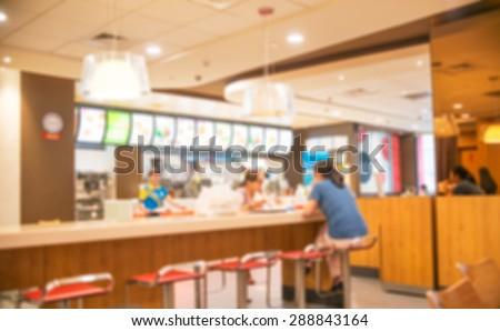 Blur restaurant - vintage effect style picture #288843164