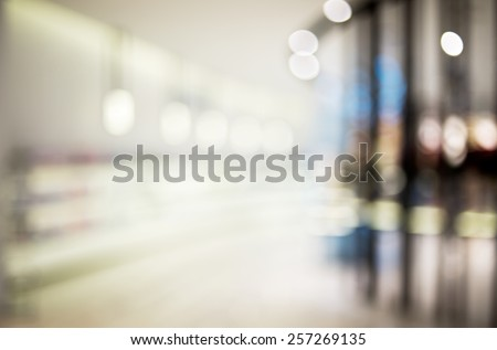 Blur shopping store with bokeh abstract background -  cosmetic