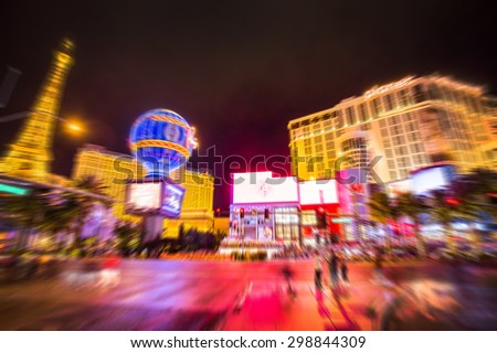 Blur strip road Las vegas Nevada