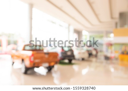 Blur the background of the car and Showroom  for sale